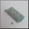 A - Soft Fabric Eyeglass Case in Grey Aqua