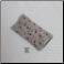 E - Soft Fabric Eyeglass Case in Red Roses on Grey