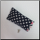 F- Soft Eyeglass Case in Navy Dots