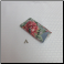 A - Soft Fabric Eyeglass Case in Large Red Flower