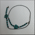 32.5-A in Teal Glass Flowers