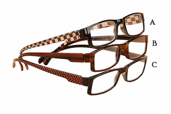 Eyeglass Frames With Long Temples : 762 in Checks Cutting Edge Readers Glasses Long Temples