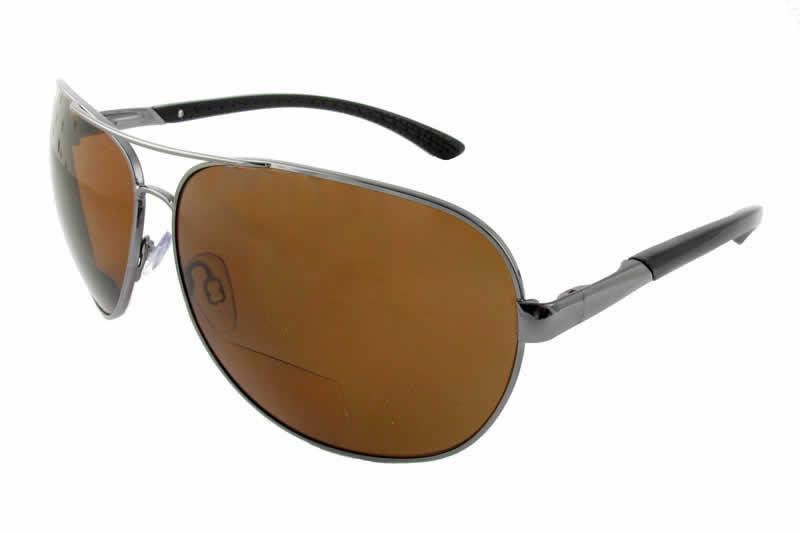 092a93b45c4 Polarized Bifocal Sunglasses  477-BF in Gunmetal Amber